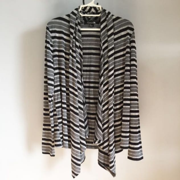 Forever21 Striped Cardigan