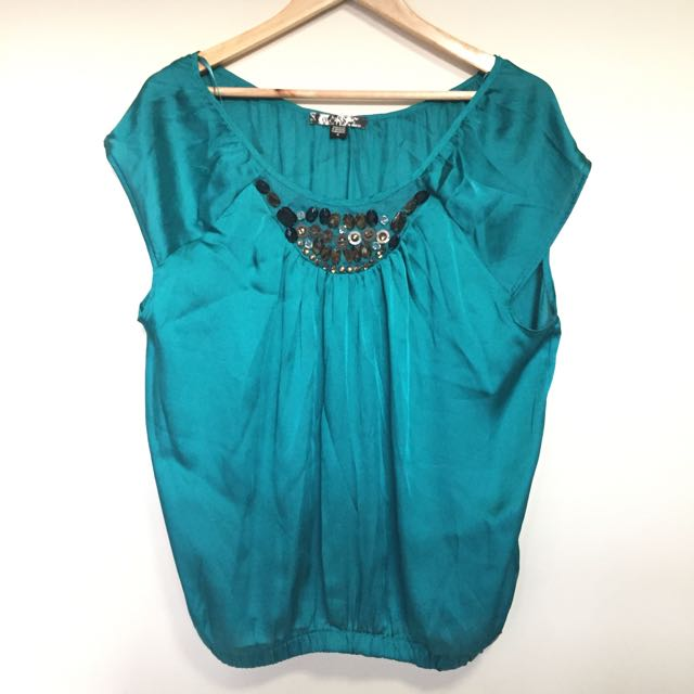 Guess Emerald Silk Top