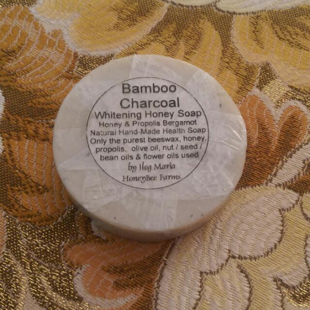 Bamboo Charcoal Whitening Honey Soap