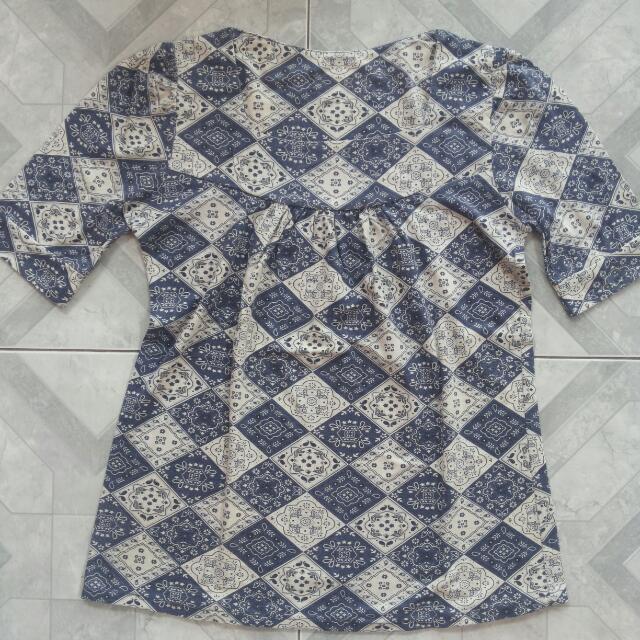 Kaos Batik Blue
