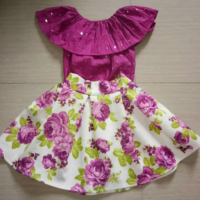 Kiddie dress and terno