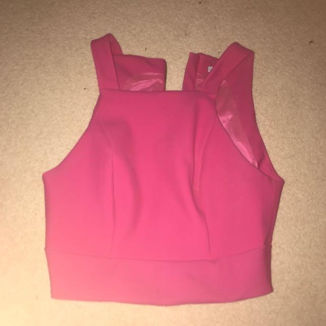 Kookai Pink Crop Top