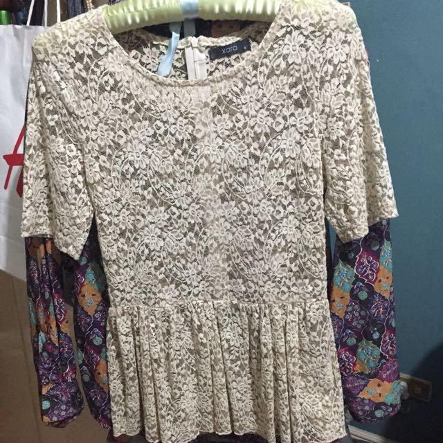 Lace blouse Cream