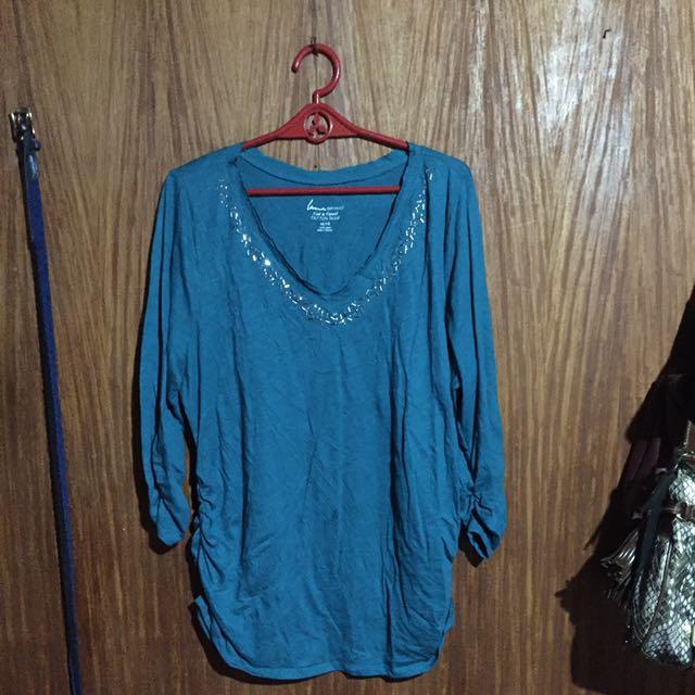 LANE BRYANT V-neck 3/4 Sleeve Top (Plus Size)