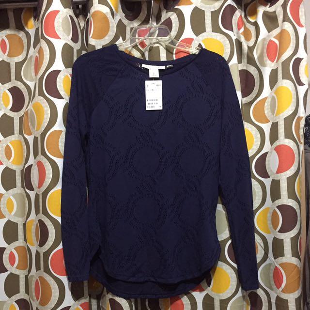 L.O.G.G. Basic L/S Eyelet blouse