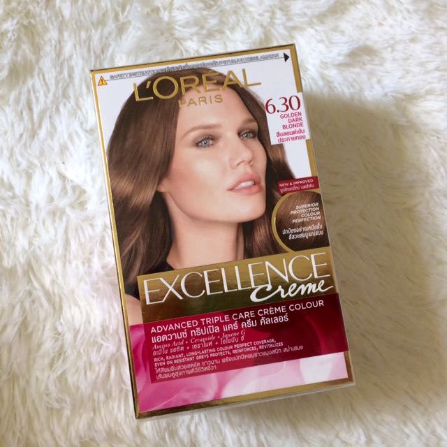 L'OREAL Excellence Creme in Golden Dark Blonde (6.30)