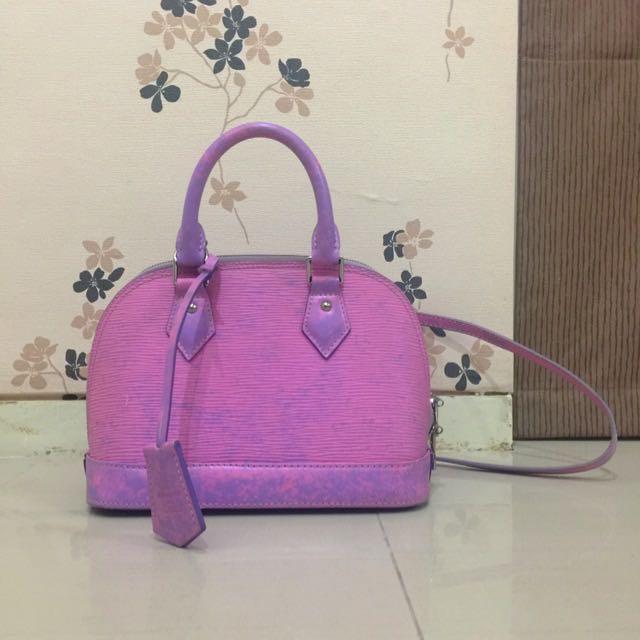 LV Purple Pink Sling Bag