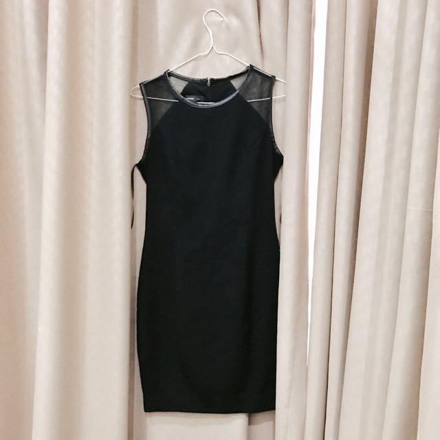 Mango Suit Black Slimfit Dress