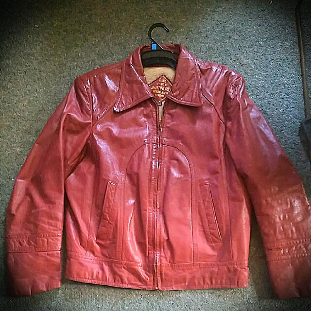 Martini Napa Leather Red Jacket