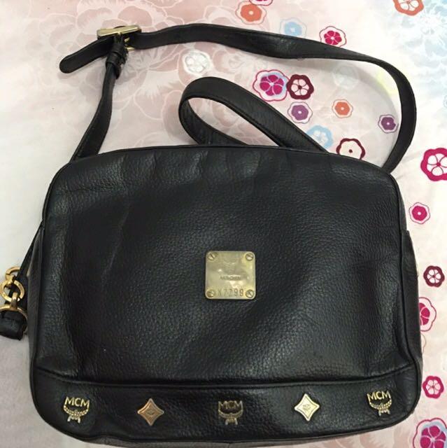 MCM Munchen black sling bag - REPRICE