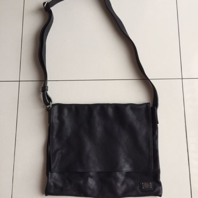 Mens Messenger Bag Leather Dolce Gabbana Grained Bags