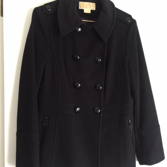 Michael Kors Black Winter Coat Size M