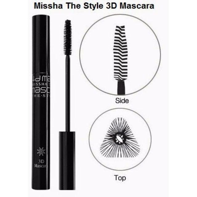 Korean Missha The Style 3D black mascara
