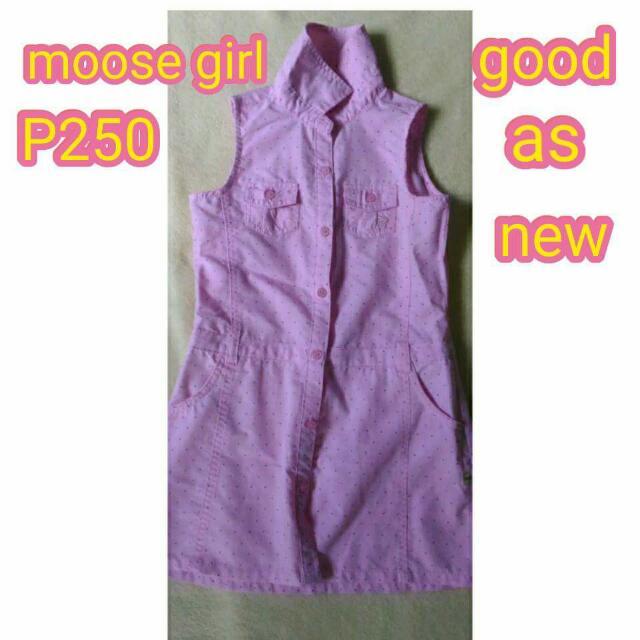 MOOSEGIRL PINK DRESS