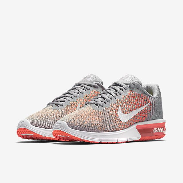8253007bbe Nike Air Max Sequent 2 (Women) - Wolf Grey/Bright Mango/Sunset Glow ...