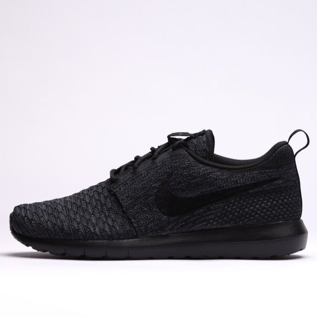 5c53b1c041578 ... coupon code nike roshe run 2 flyknit triple black mens fashion footwear  on carousell 60457 9401d