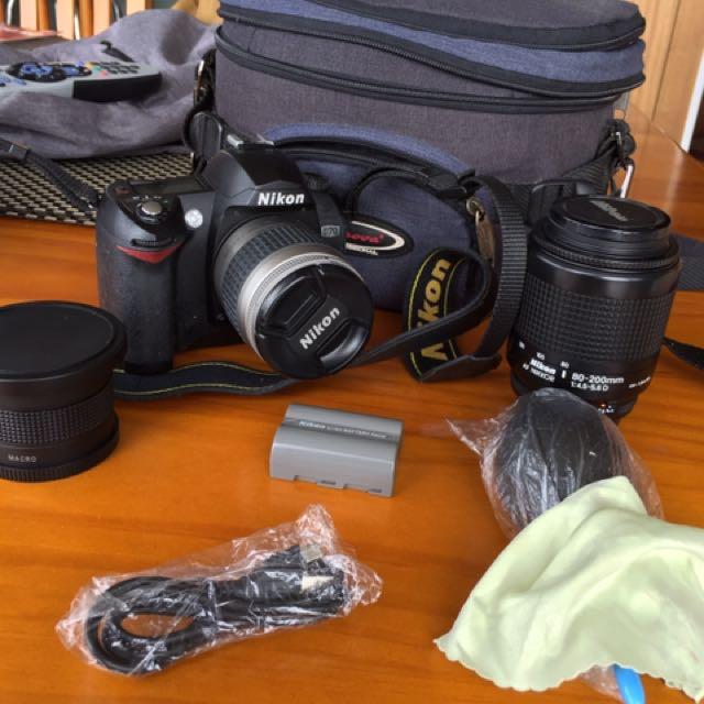 Nikon D70 + Lenses And Accessories