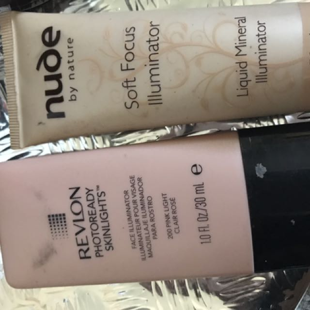 Nude By Nature And Revlon Highlighter