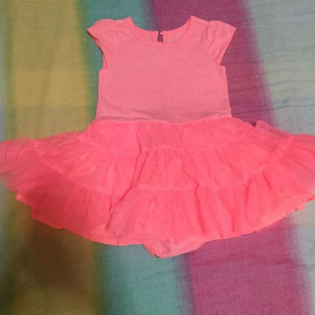Old Navy Neon Pink Dress 12-18mos