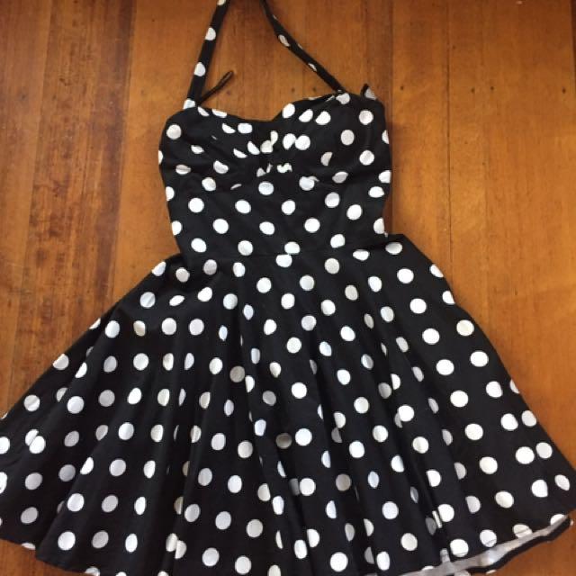 Polkerdot halter Dress Size 8-10
