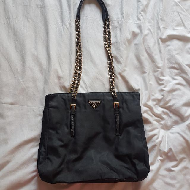 Prada Sling Bag With Gold Chain Strap