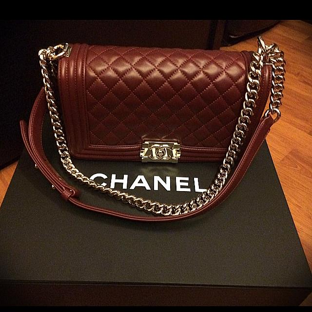 f42745a2ff40 Preloved Chanel Boy Lambskin Ghw Small Authentic, Luxury, Bags ...