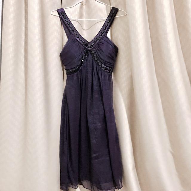 Free Retur! Premium Dark Purple Party Dress