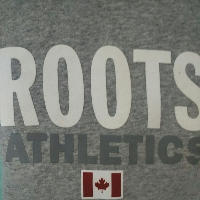 (免運)Roots灰色帽T