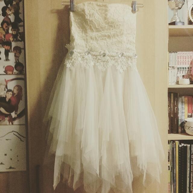 Ruffle Prom Dress