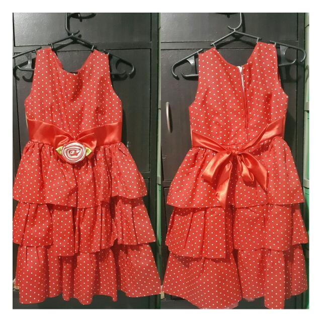 Ruffles Red Dress