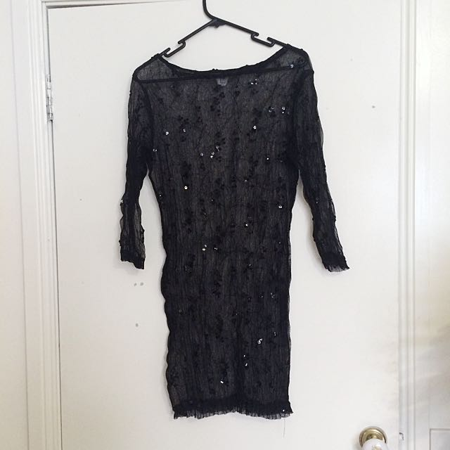 Sequin See Through top/dress