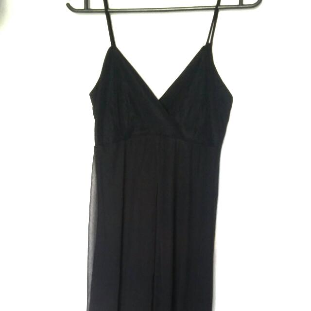 Sexy Black Long Gown