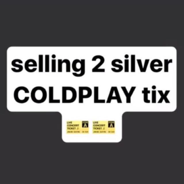 Silver COLDPLAY ticket
