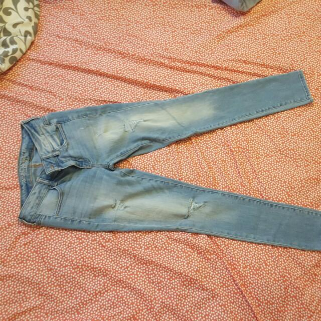 Size 2 Skinny Jeans AE And Gap