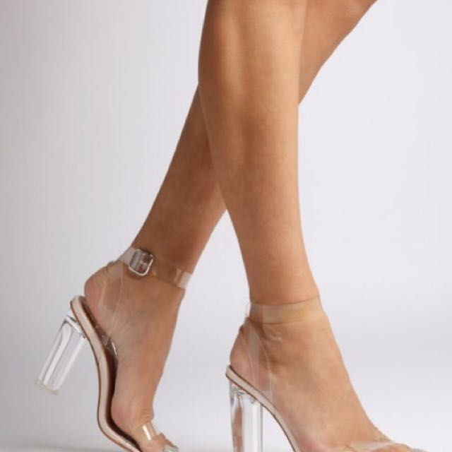 Strappy Heel In Clear Perspex