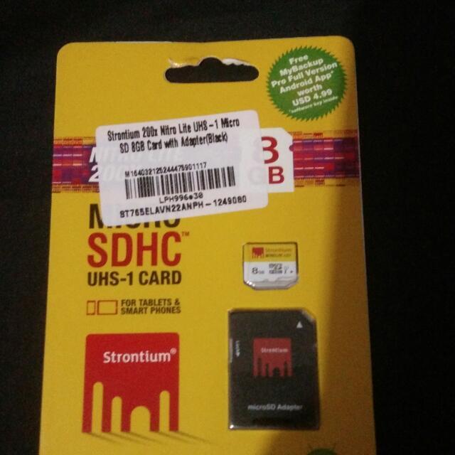 Strontium 8GB micro sd