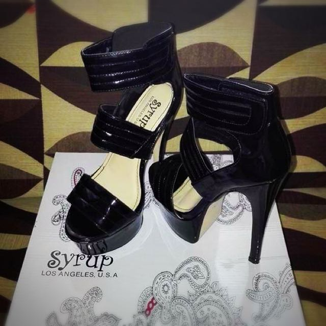 """""""Syrup"""" 7 Inches Sexy Strap Sandal"""