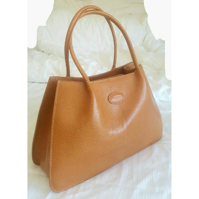 Tan Tods 100% Leather Designer Bag