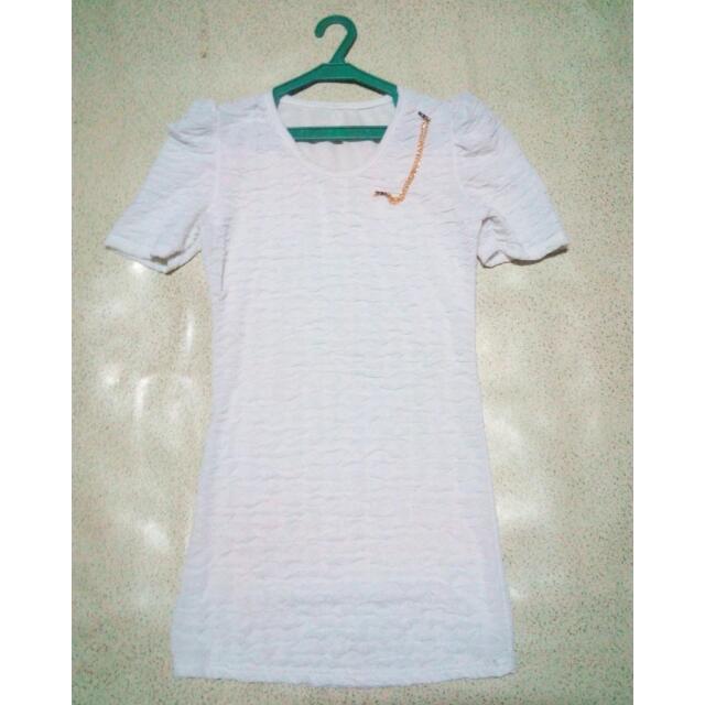 THAI WHITE SEMI DRESS