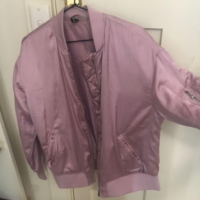TopShop Pink Bomber - Size 12