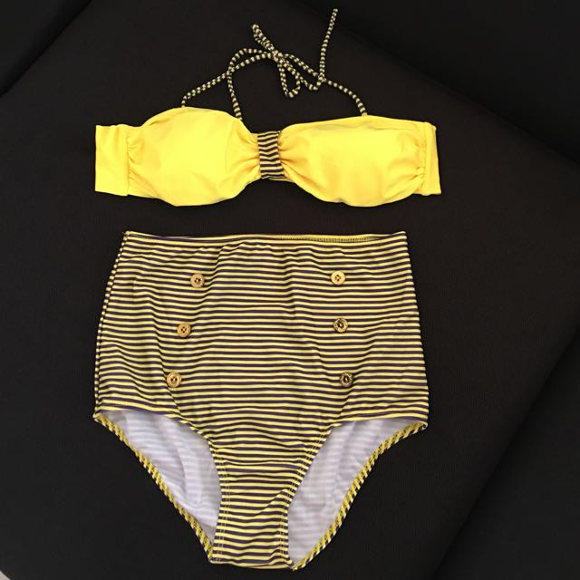 Two-piece High Waist Swimsuit