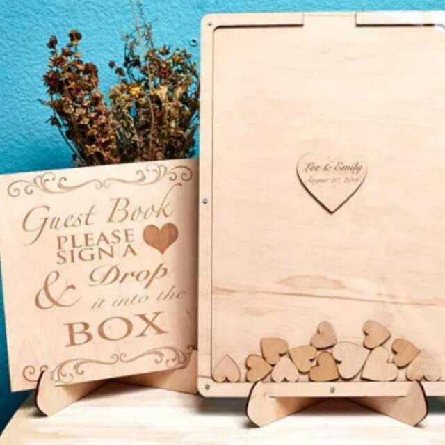 Unique Wedding Guest Book Frame Guestbook Sign Alternate Guestbook