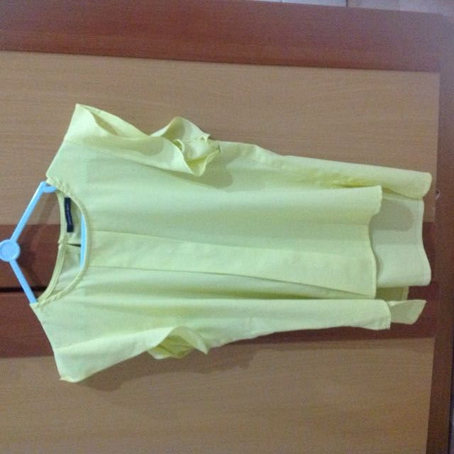 Uptown Girl Neon Yellow Green Blouse