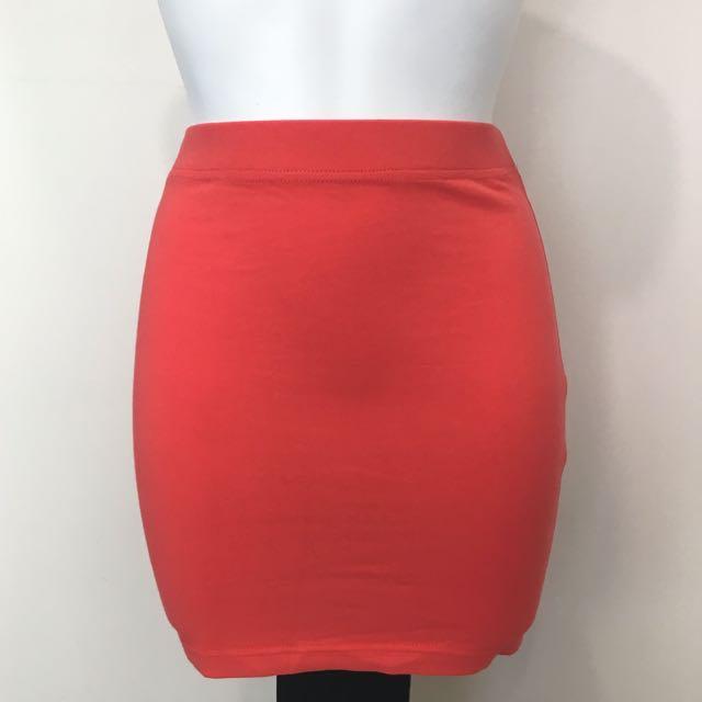 Vibrant Blood Orange Skirt
