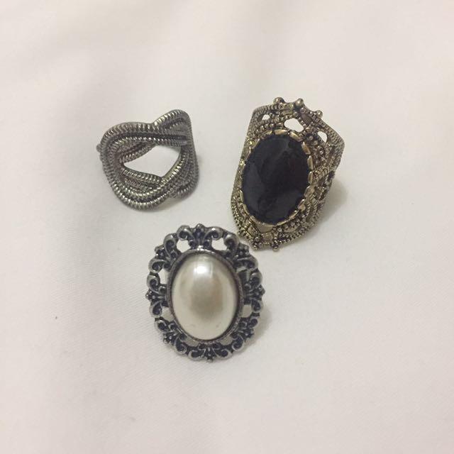 Vintage Ring Pack (3pcs)