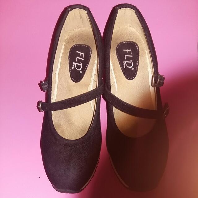 Wedges Shoes Sport Look FLD Black
