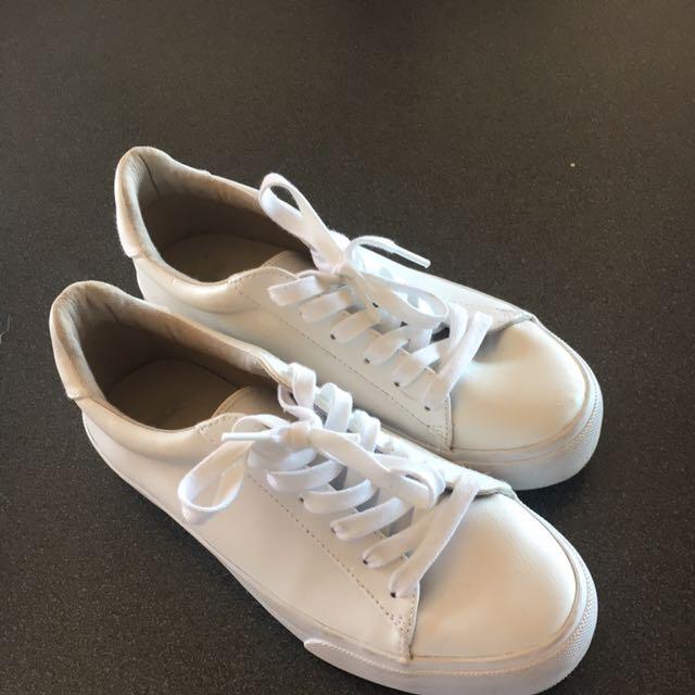 White ASOS sneakers