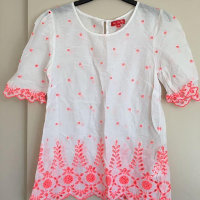 White Cotton Shirt- Size M
