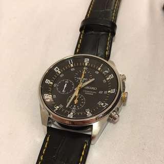 Seiko黑皮錶