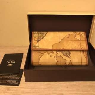 Alviero Martini 義大利地圖包扣式中長夾